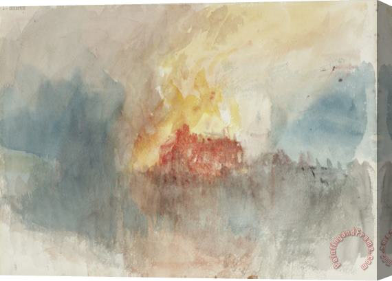 Joseph Mallord William Turner From Fire at The Tower of London Sketchbook [finberg Cclxxxiii], Fire at The Grand Storehouse of The Tower of London Stretched Canvas Print / Canvas Art